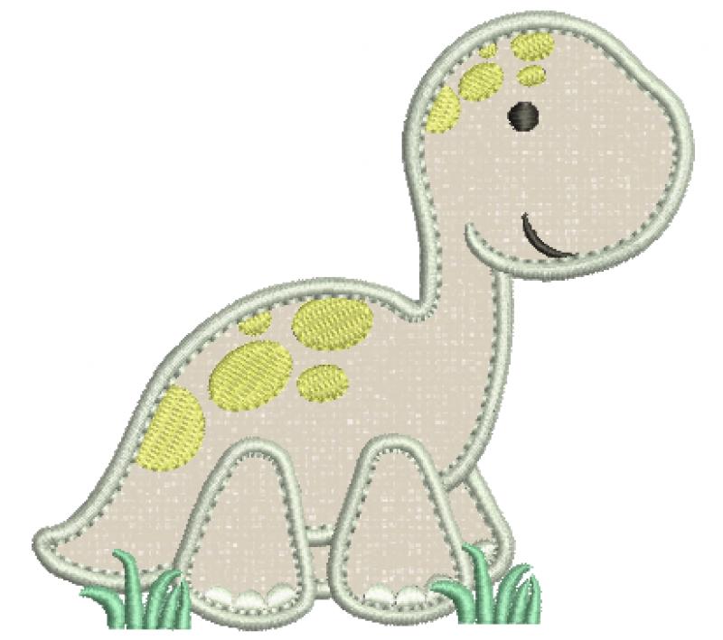 Dinossauro Brontossauro Baby - Aplique