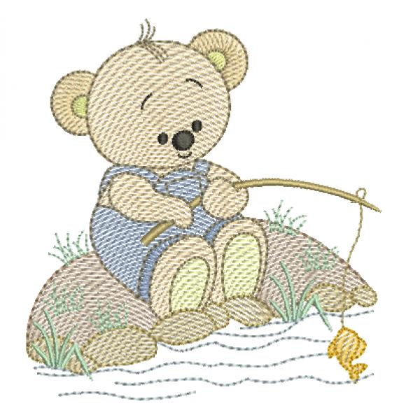 Urso Pescando - Pontos Leves