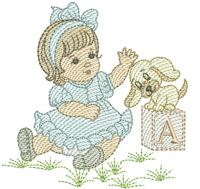 Menina e Cachorro - Pontos Leves