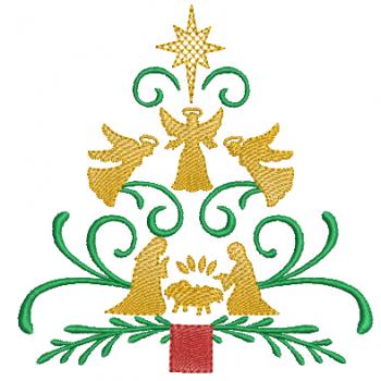 Arvore de Natal com Presépio -  Rippled