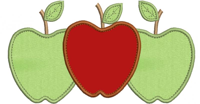 Três maçãs - Aplique