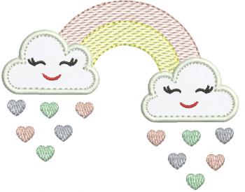 Nuvem com Chuva de Amor - Aplique