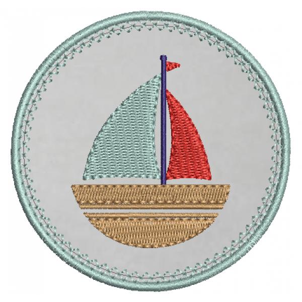 Barco e Moldura Aplique - Pontos Leves