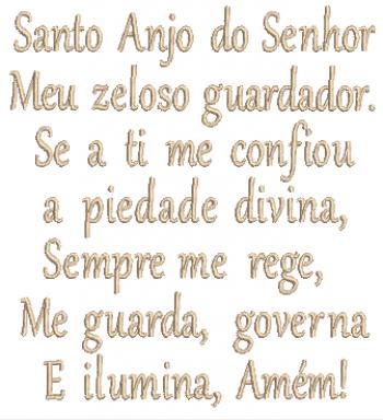 Oração Santo Anjo - Ponto Cheio