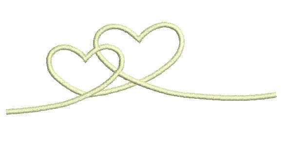 Corações Entrelaçados - Ponto Cheio