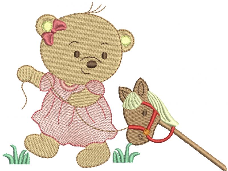 Ursa Puxando Cavalinho - Rippled