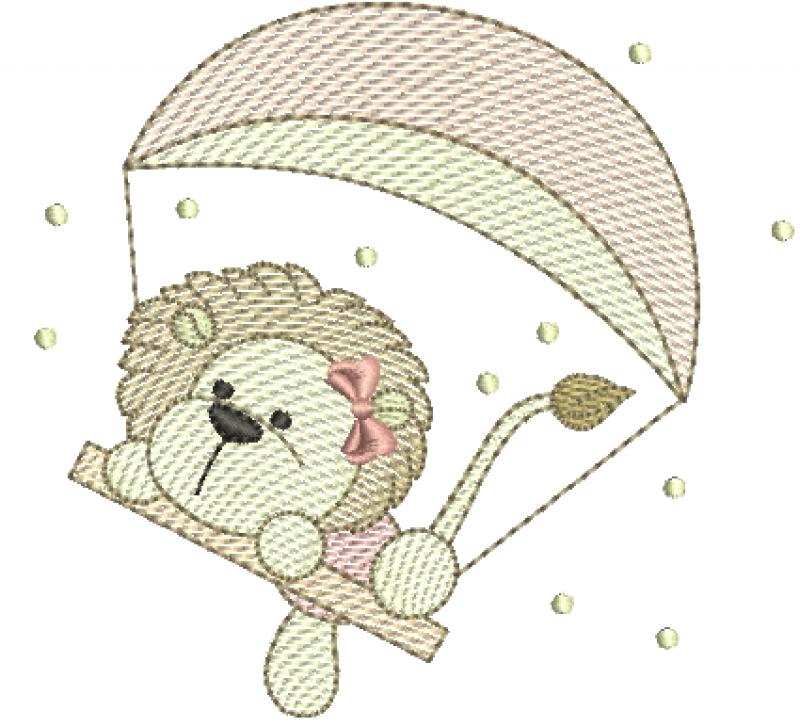 Leoa com Paraquedas - Rippled