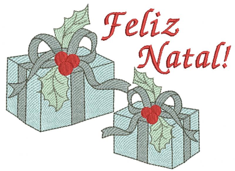 Presentes e Feliz Natal - Rippled