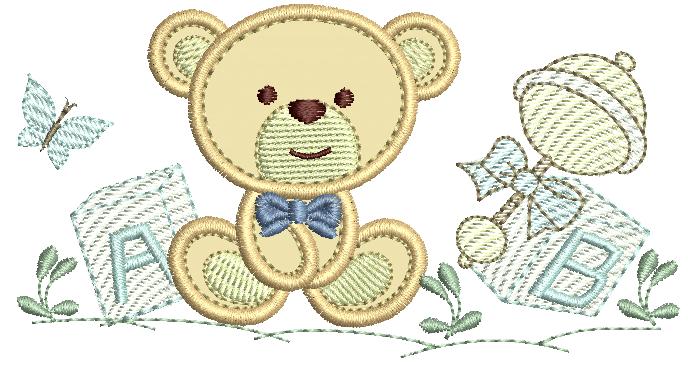 Ursinho com brinquedos - Aplique
