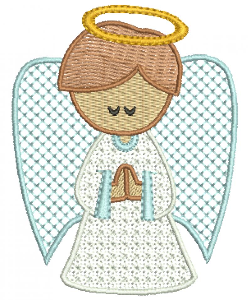 Anjo Orando - Ponto Decorativo