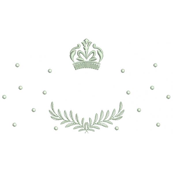 Coroa e Ramo com Bolinhas - Ponto Cheio