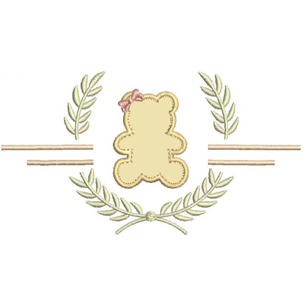 Ursa Aplique com Ramo