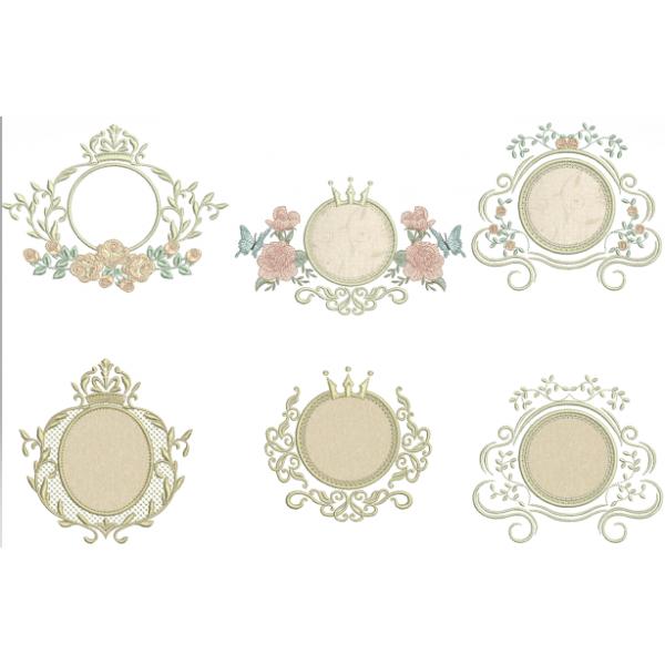 Pacote Molduras Aplique e  Florais - Ponto Cheio