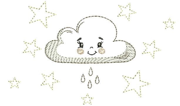 Nuvem com Estrelinhas – Estilo Minimalista