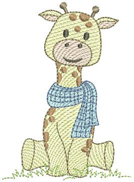 Girafa Menino Sentada - Rippled