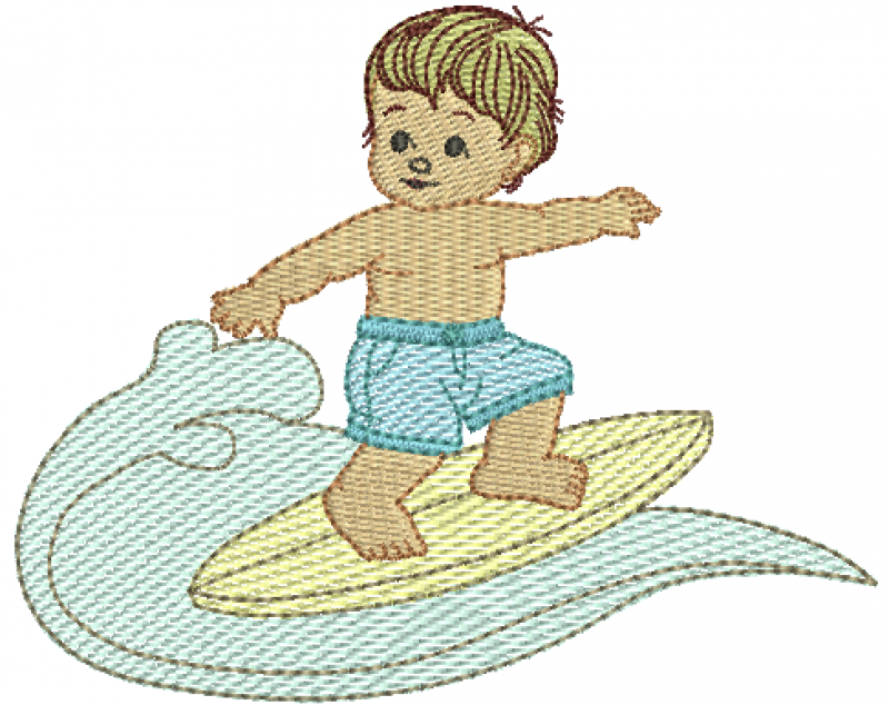 Menino Surfando - Rippled