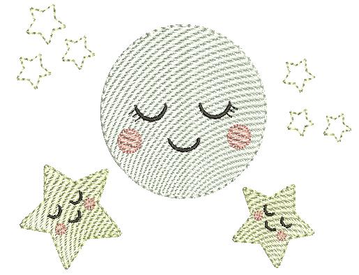 Lua com Estrelas - Rippled