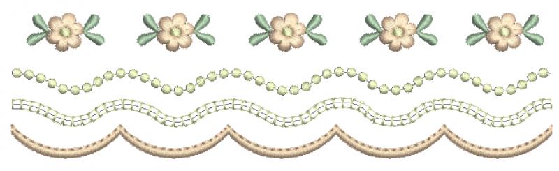Barrado com Bolinhas e Florzinhas
