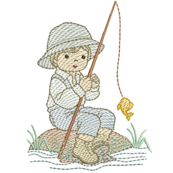 Menino Pescando - Pontos Leves