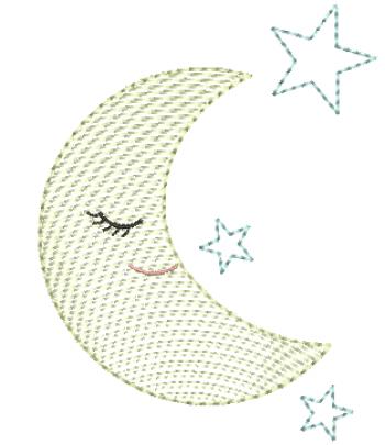Lua com Estrelas - Rippled (Pontinho Leve)
