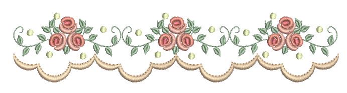 Barrinha com Galho de Rosas