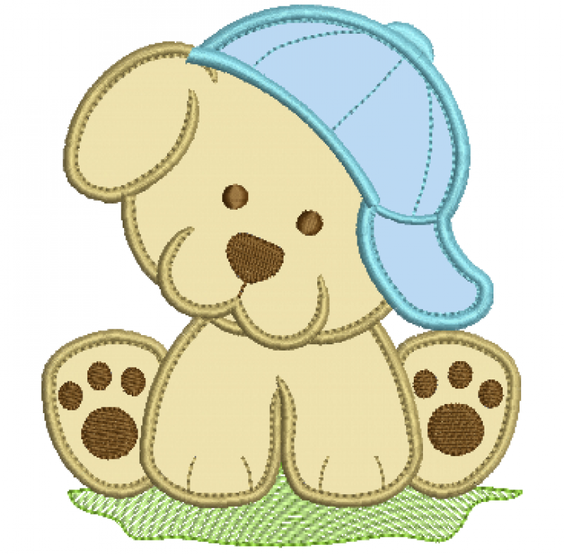 Cachorrinho de Boné - Aplique