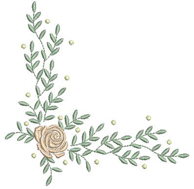 Cantoneira Rosa e Raminhos – Ponto Cheio