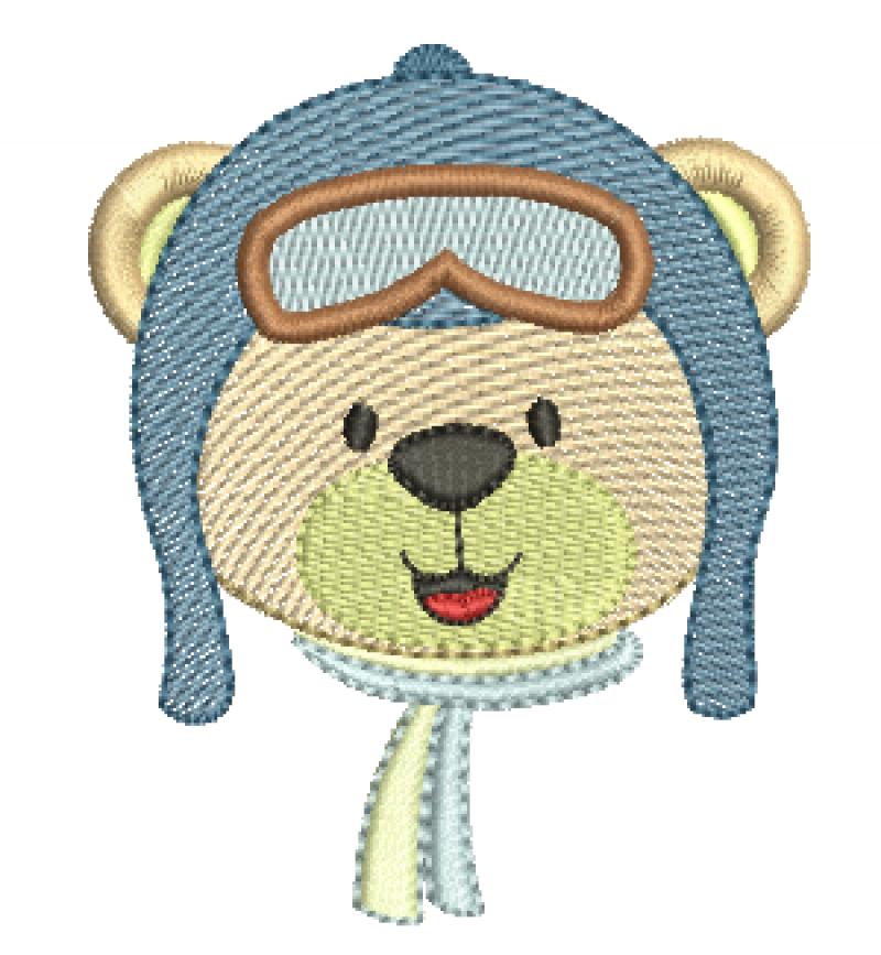 Cabeça Urso Aviador - Rippled