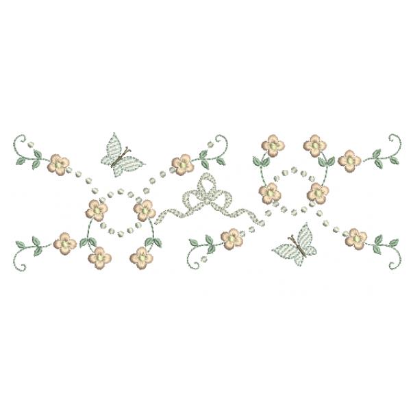 Florzinhas e Borboletas - Ponto Cheio