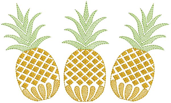 Abacaxi em Trio - Rippled