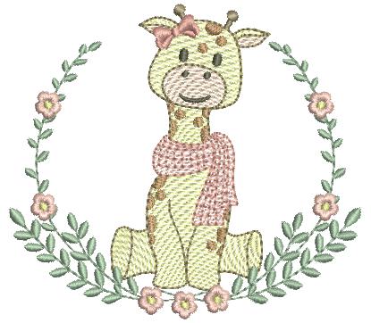 Girafa no Ramo de Louro - Rippled