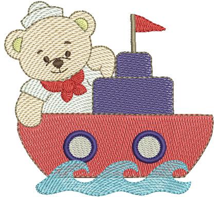 Urso Marinheiro no Barquinho - Rippled