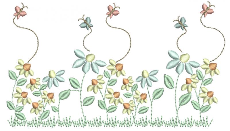 Jardim com Borboletas - Ponto Cheio