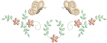 Guirlanda de Florzinhas e Borboleta 3D