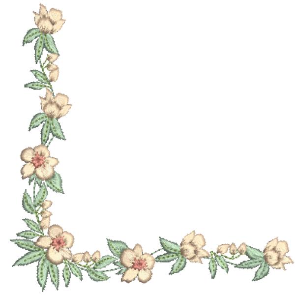 Cantoneira e Flores - Ponto Cheio