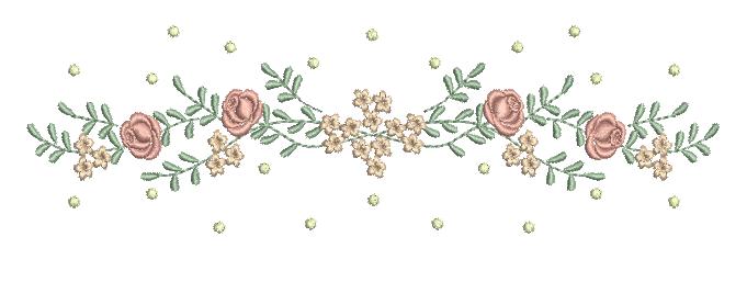 Raminho de Rosas e Florzinhas com Poás – Ponto Cheio
