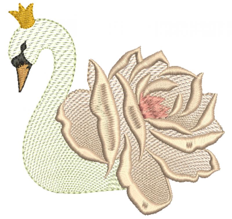 Cisne em forma Rosa - Rippled