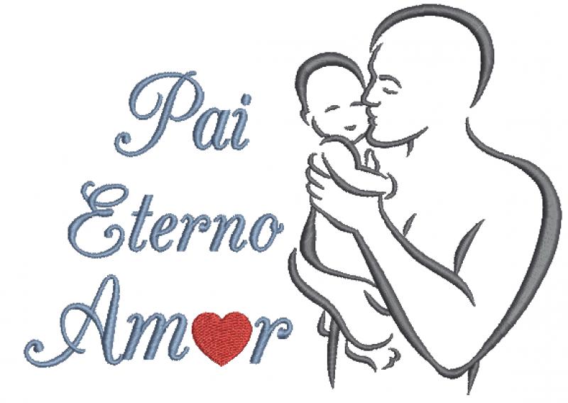 Pai Eterno Amor Silhueta - Ponto Cheio