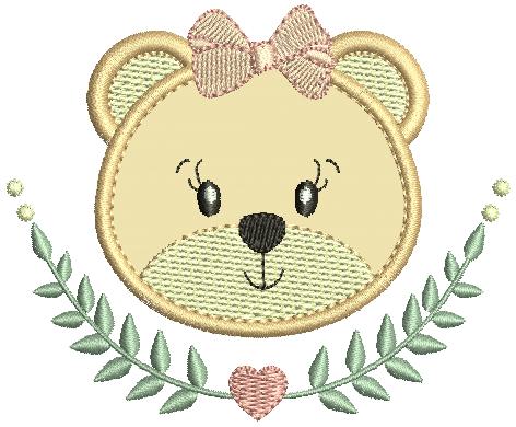 Ursa no Raminho - Aplique