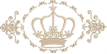 Coroa com Arabesco - Ponto Cheio