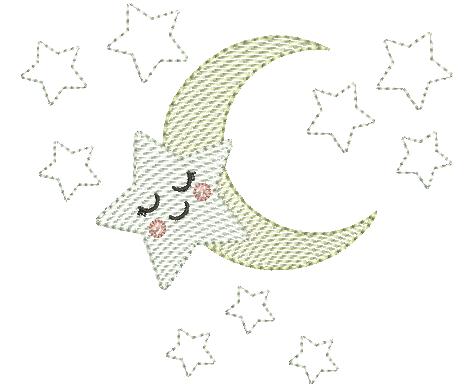 Lua e Estrelas - Rippled